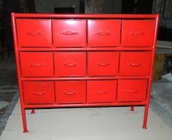 Industrial Painted Drawer Chest