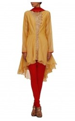Yellow Asymmetrical Kurta