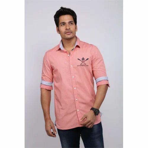 Pink designer shirts custom shirt for Linen shirts for mens in chennai