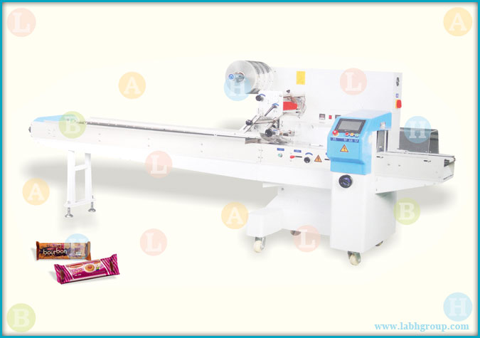 Automatic Wrapping Machine for Biscuits in Plastic Tray