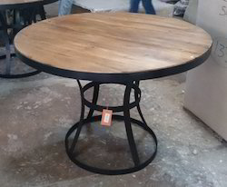 Industrial Loft Style Round Dining Table