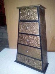 Big Brass Wooden Drawers