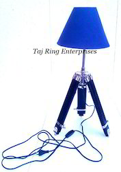 Nautical Lamp Stand with Blue Shade