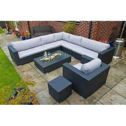 Wicker L Shape Sofa