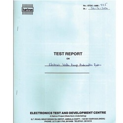 Govt. Lab Report - Electronic Testing & Development Centre Report