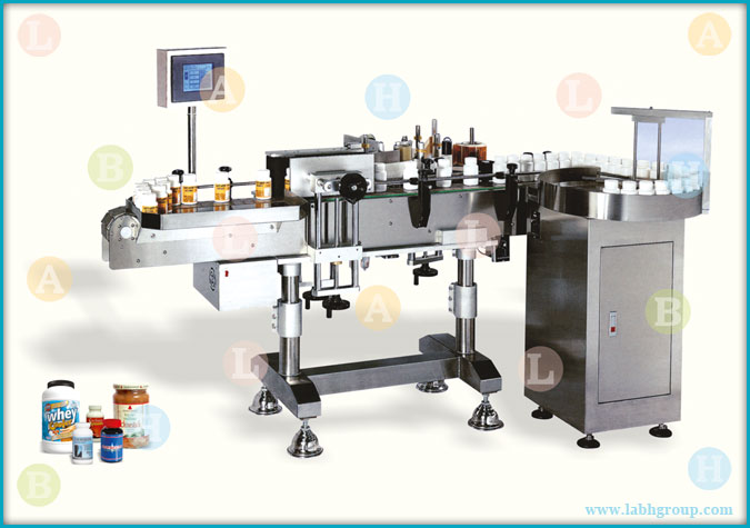 Automatic Wrap Around Sticker Labelling Equipment for Round Containers
