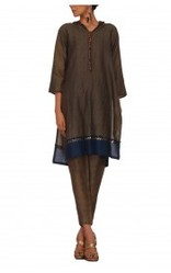 Linen Tunic With Metal Detaling