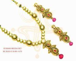Fancy Meena Necklace Set