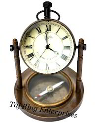 Antique Clock With Compass