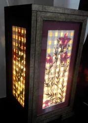 Dry Leaf Painting Lamp