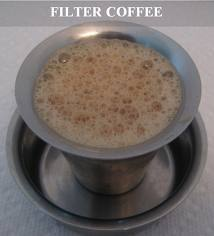filter coffee with freshly boiled milk