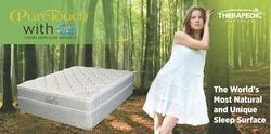 therapedic latex with gel mattress pure touch