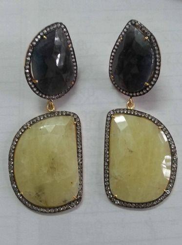 Diamonds & Multi Sapphire Earring