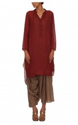Sheer Matka Silk Kurta