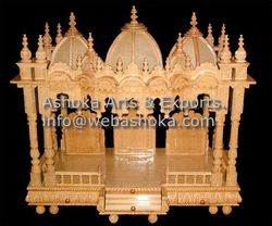 Wooden Carved Teakwood Temple Mandir, wooden Temple, Woode