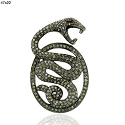 Designer Snake Shape Diamond Findings