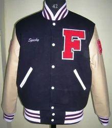 Custom Varsity Letterman Jacket Fleece Reversible Satin