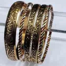 Golden Brown Brass Bangle