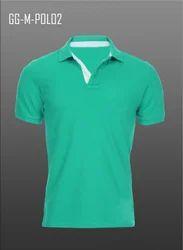 Men's Knitted Collar T-Shirt