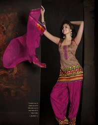 Readymade Punjabi Suit Pink Color