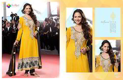 Yellow Anarkali Salwar Kameez