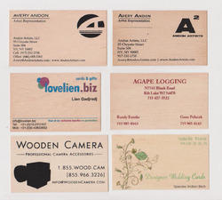 Wooden Business Cards with Custom Printing