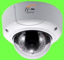 Vandal Proof Varifocal Dome IR Camera
