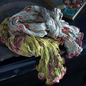 Cotton Scarves with Lace