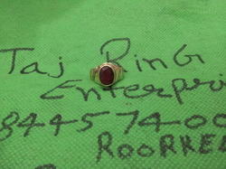 Ruby (manik) Asht Dhatu Ring