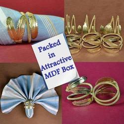 Palm Leaf Napkin Rings - Exotic Brass Tableware