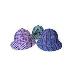 cotton check child hats