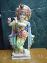 Colored Marble Krishna Statue