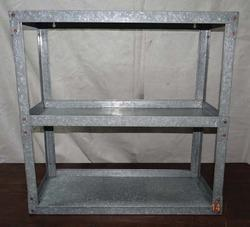 Galvanized Book Shelves with Copper Rivet