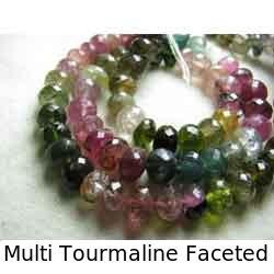 Multi Tourmaline Faceted Rondelle