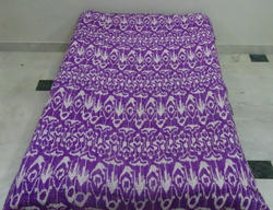 New Cotton Kantha Ikat Bed Cover Single