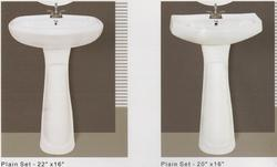Plain Series Wash Basin with Pedestal