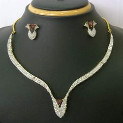 Fashion Designer Diamond Necklace Set