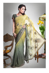 Embroidery Fabric Georgette Designer Sarees