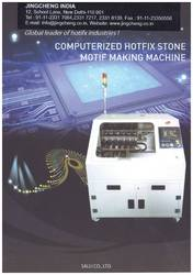 Computerised Hotfix Stone Motif Making Machine