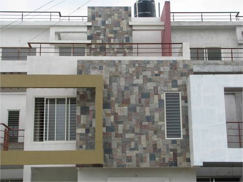 Wall cladding tiles elevation wall cladding tile for Exterior wall tiles design india