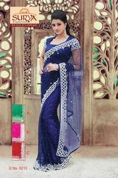 Designer Party Wear Net Sarees 5213