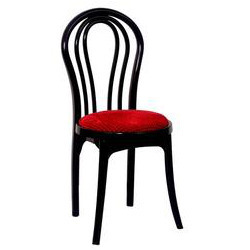 Plastic Designer Chair With Cushioned Seat