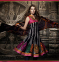 black net churidar kameez