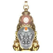 Hanuman Mantra Locket With Gold Plated Chain