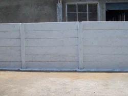 Grey Concrete Compound Wall