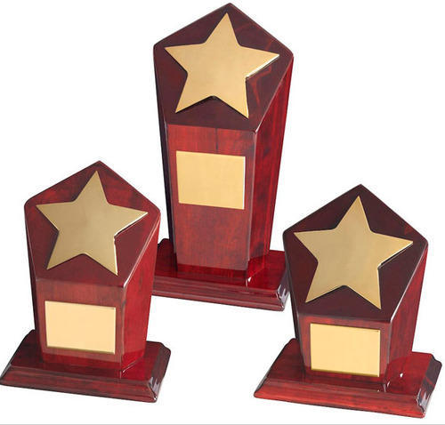Star Wooden Trophy