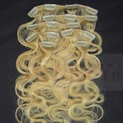 Clip On Remy Hamy Human Hair Extensions