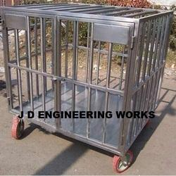 animal cage trolley steel