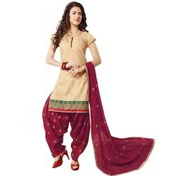 Embroidered Patiala Dress Material