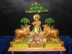 Wooden Krishna Statues